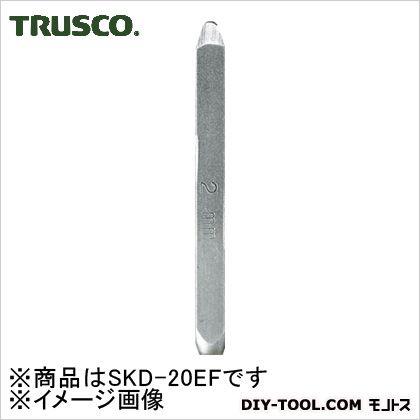 トラスコ バラ刻印F(アルファベット)  2mm SKD20EF