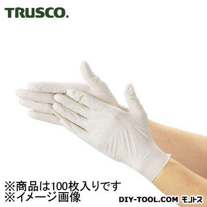トラスコ 使い捨て極薄手袋(天然ゴムパウダーフリー) 白 S (TGL493S) 100枚 使い捨て手袋 手袋