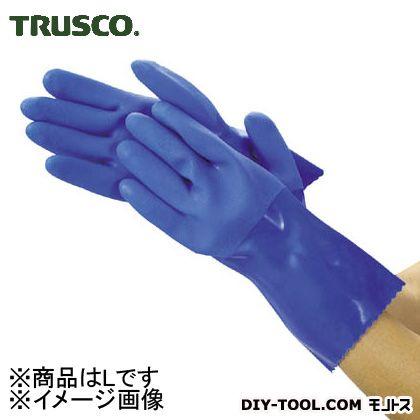 トラスコ 耐油ビニール手袋ロング  L TGL233L
