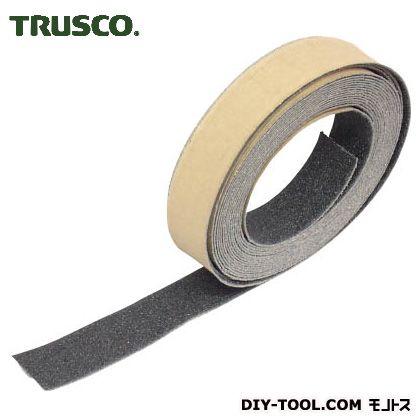 トラスコ ノンスリップテープ屋外用 黒 5m×25W TNS25