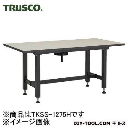 【送料無料】TRUSCO ハンドル昇降式作業台1200X750XH700−900   TKSS-1275H  特殊作業台作業台