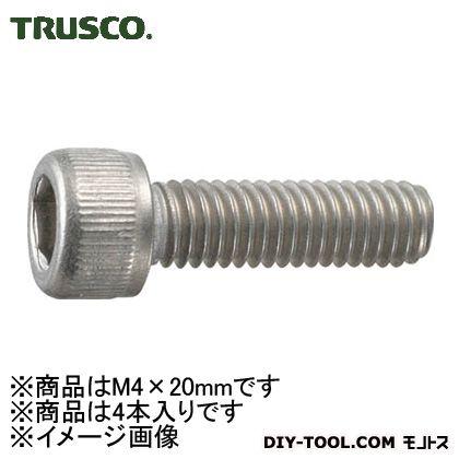 チタン六角穴付ボルト強度Ti2寸法 M4×20 (TB970420) 4本