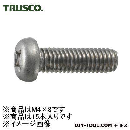チタン+ナベ頭小ねじ 寸法M4×8 (TB910408) 15本入