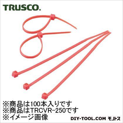 カラーケーブルタイ 赤  TRCVR250 100 本