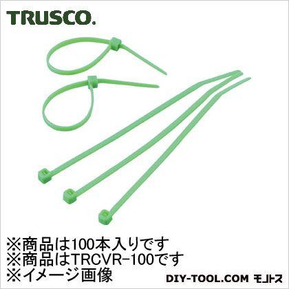 カラーケーブルタイ 緑 (TRCVR100) 100本