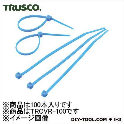 カラーケーブルタイ 青 (TRCVR100) 100本