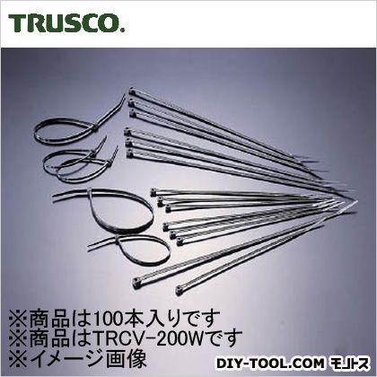 ケーブルタイ耐候性  幅4.6mm×203mm最大結束φ55 TRCV200W 100 本