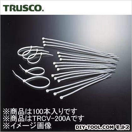 ケーブルタイ耐候性  幅3.6mm×203mm最大結束φ55 TRCV200A 100 本