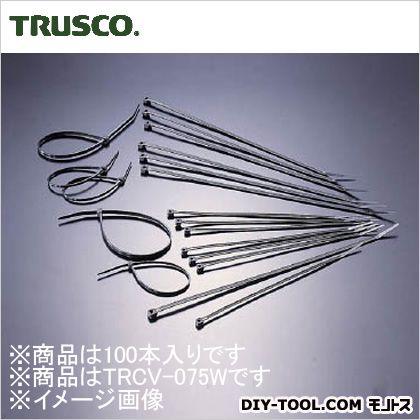 ケーブルタイ耐候性 幅2.4mm×75mm最大結束φ18 (TRCV075W) 1袋(100本)