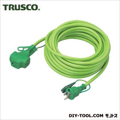 トリプルポッキン延長コード10m緑 GN  TPVS-10E