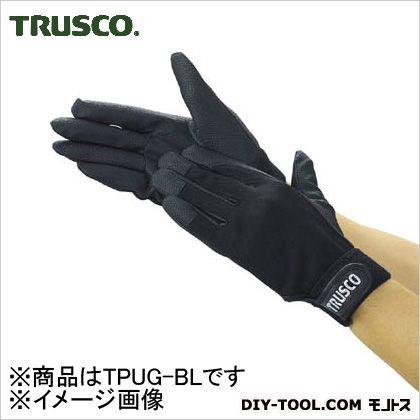 PU手袋厚手 ブラック L (TPUGBL)