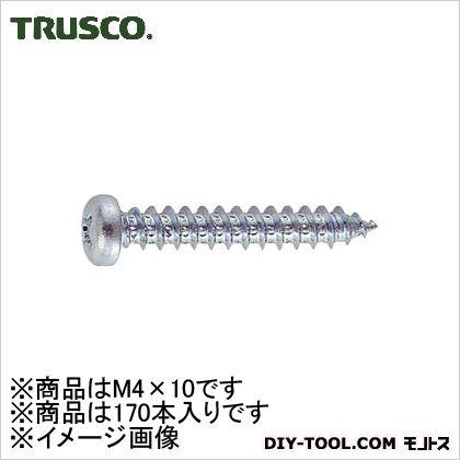 ユニクロームナベ頭タッピングねじ M4×10 (B070410)