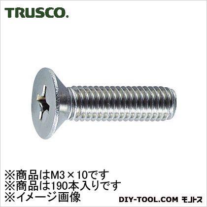皿頭小ネジ ステンレス M3×10 (B060310) 190個