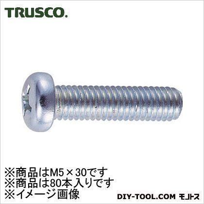 ナベ頭小ネジユニクロサイズM5X3080本入   B01-0530 80 本
