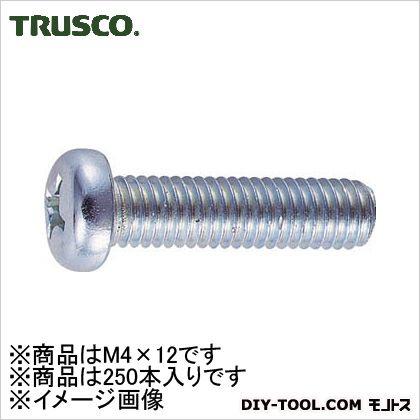 ナベ頭小ねじ ユニクローム M4×12 (B010412) 250個