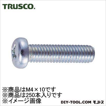 ナベ頭小ネジユニクロサイズM4X10250本入   B01-0410 250 本