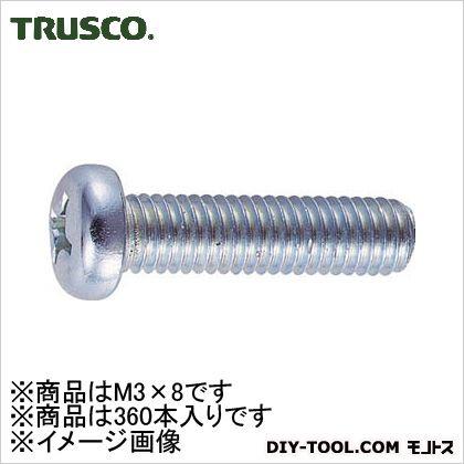 ナベ頭小ネジユニクロサイズM3X8360本入   B01-0308 360 本
