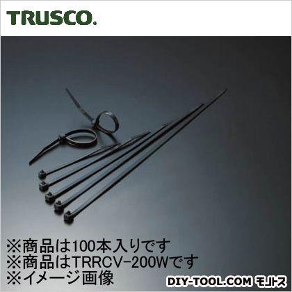リリースタイ 耐候性 幅4.7mm×200mm最大結束φ55 (TRRCV200W) 1袋(100本)