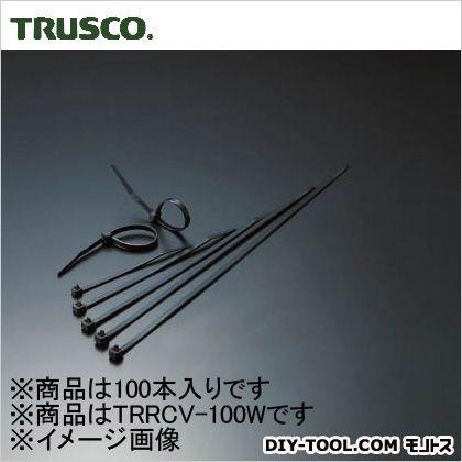 リリースタイ 耐候性 幅3.6mm×100mm最大結束φ25 (TRRCV100W) 1袋(100本)