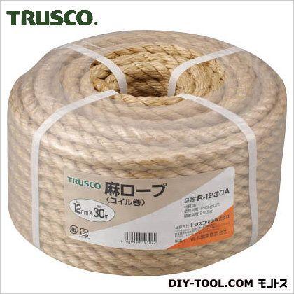 麻ロープコイル巻き  φ12×30m R1230A