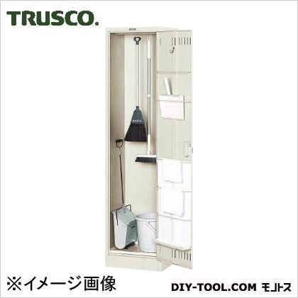 掃除用具庫浅型パイプ付 W455×D400×H1790 (NKHC)
