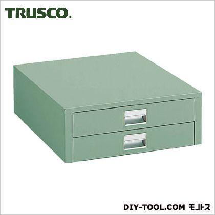作業台用薄型2段引出し グリーン  UDC002