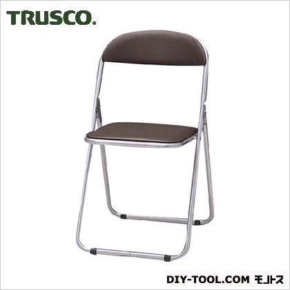 トラスコ 折りたたみパイプ椅子ウレタンレザーシート貼り 茶   FC2000TS