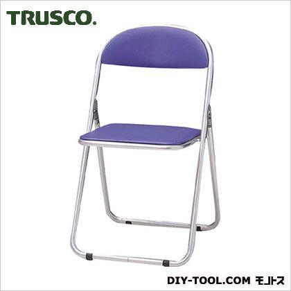 トラスコ 折りたたみパイプ椅子ウレタンレザーシート貼り 青  FC2000TS