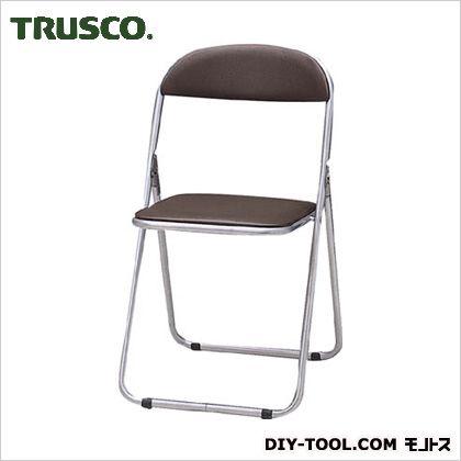 トラスコ 折りたたみパイプ椅子ウレタンレザーシート貼り 茶  FC1000TS
