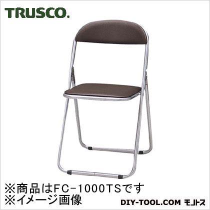 トラスコ 折りたたみパイプ椅子ウレタンレザーシート貼り 青   FC1000TS