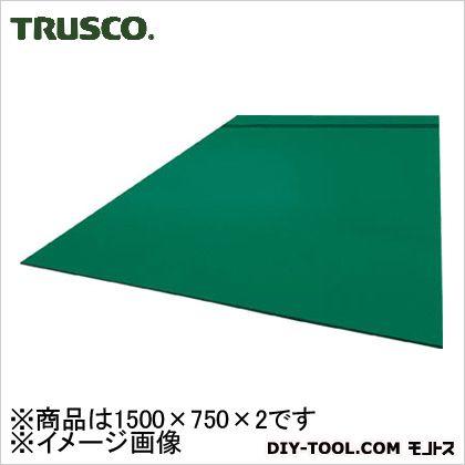 作業台用ビニールマット 緑 1500×750×2 EmD1500