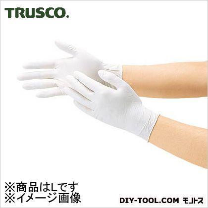 トラスコ 使い捨て天然ゴム極薄手袋 L (DPm5498) 使い捨て手袋 手袋