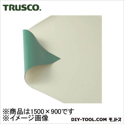作業台用静電マット1500X900グリーン/ベージュ   TWGB-1590
