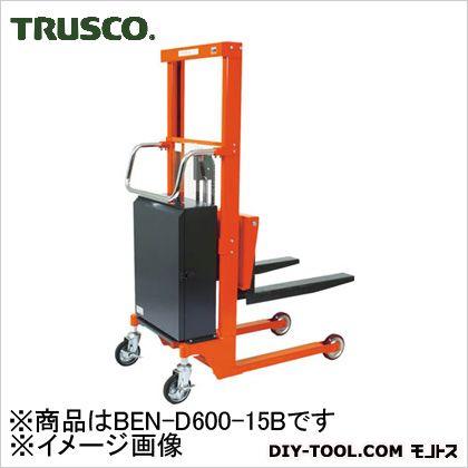 【送料無料】TRUSCO コゾウリフターフォーク式H115−1535電動昇降式   BEN-D600-15B  運搬車台車