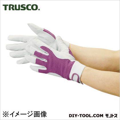 トラスコ 豚革甲メリヤスマジック止め式手袋  M TYK129M 1 双