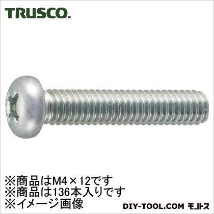 鍋小ねじ三価クロメート 白 M4×12 (B7010412)