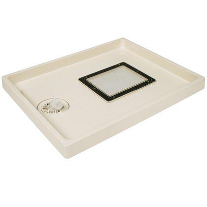 テクノテック 点検口付防水パン ABSエンデバー 本体:アイボリーホワイト点検口:透明 W800×D640×H63mm TSE-800 1 台