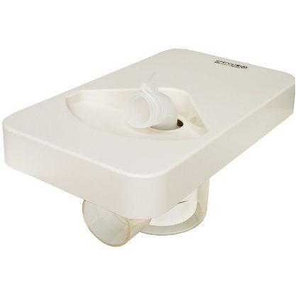 テクノテック ビルトイン洗濯機用 小型防水パン プッチエンデバーCタイプ(本体+台+フタ) アイボリーホワイト W340×D200×H45mm TS-340C 1 台