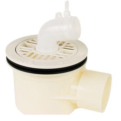 テクノテック スタンダード防水パン用排水トラップ T.Tトラップ 横型 本体:アイボリーホワイト目皿/目皿受:アイボリーホワイト  PNT-W 1 台
