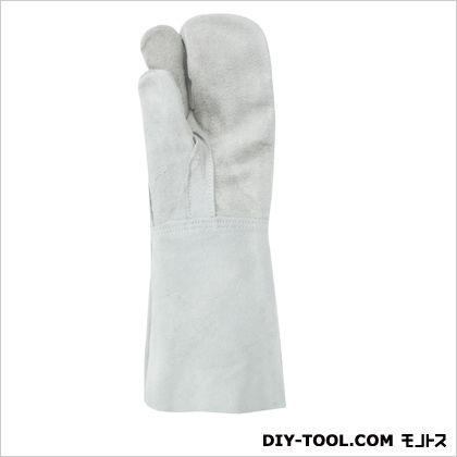 溶接用革手袋床革3本指W-333フリー グレー  460