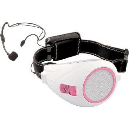 VOICE WALKER ハンズフリー拡声器 ホワイト&ピンク 横幅:133mm高さ:96mm長さ:222mm (本体・ベルト部除く) ER1000PK