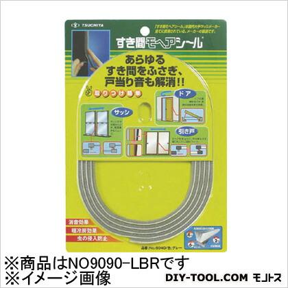 すき間モヘヤシール ゴールド 9mm×9mm×2m (2m×1袋)   NO9090LBR