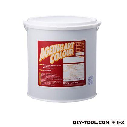 ターナー色彩 エイジングアートカラー 屋内外特殊塗装用水性塗料 低臭カーボンブラック 4kg SJB04362