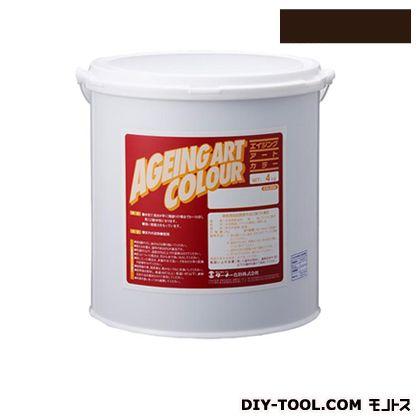 ターナー色彩 エイジングアートカラー 屋内外特殊塗装用水性塗料 低臭ローアンバー 4kg SJB04370