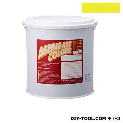 エイジングアートカラー屋内外特殊塗装用水性塗料 低臭ハンザイエロー 20kg SJB20378