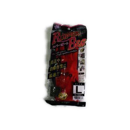 ラバービート 作業手袋  レッド Mサイズ (3630)
