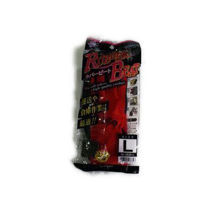 ラバービート 作業手袋  レッド Lサイズ (3630)