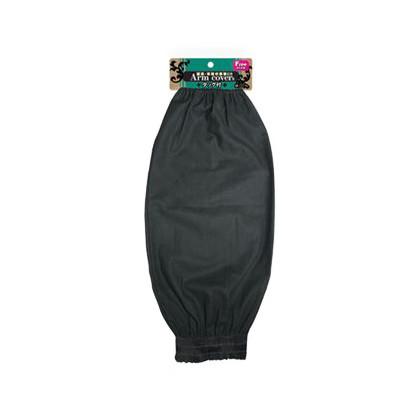 綿腕カバー タック付 ブラック フリー (U40-2)