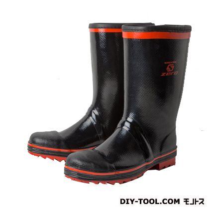 サンドイッチゴム長靴 レッド×ブラック LL/27cm SZ-600