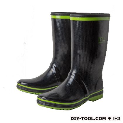 サンドイッチゴム長靴 グリーン×ブラック L/26cm NS-600